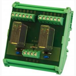 Platine à 2 relais standards MOTRONA RL203-RL204
